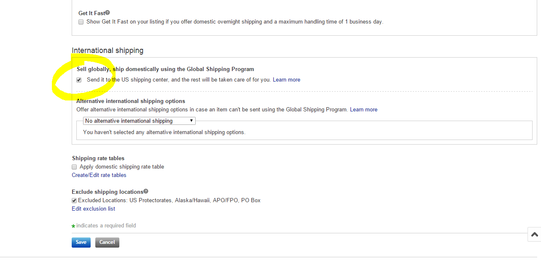 How to Enable Global / International Shipping via  Ebay